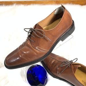 COLE HAAN Brown Leather Derby Shoes Sz10.5    D452